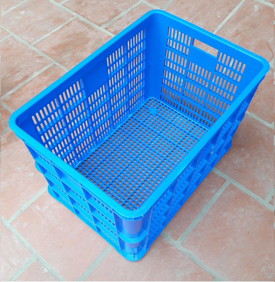 Thùng nhựa 8T rỗng (Sóng hở 3t9) xanh dương