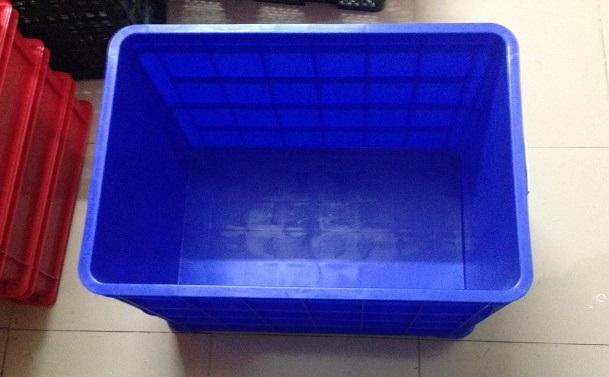 Thùng nhựa 8T đặc (Sóng bít 3T9) xanh dương