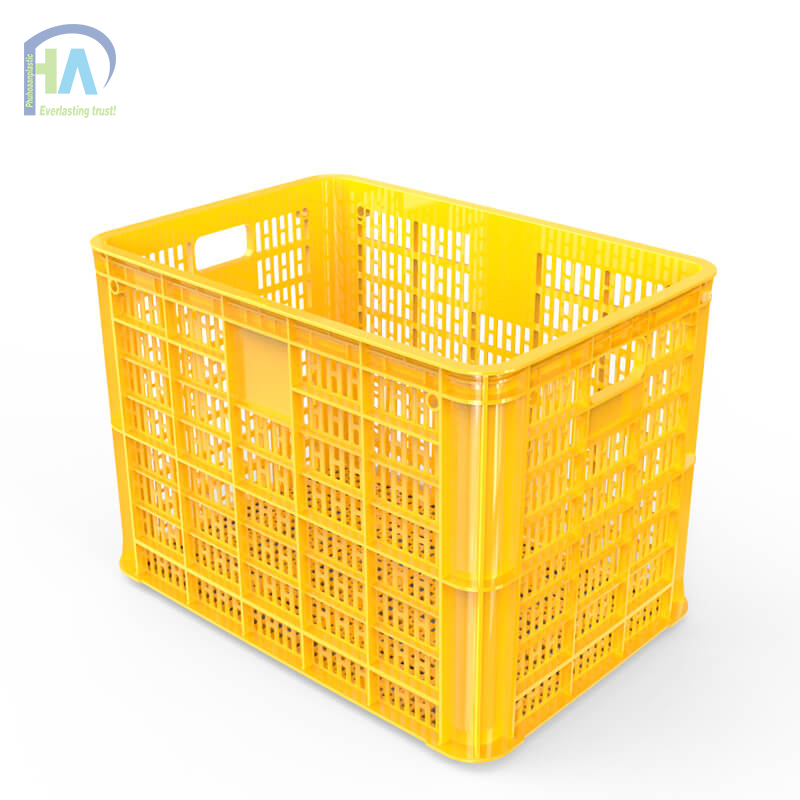 Thùng nhựa rỗng HS005 màu vàng chất lượng cao