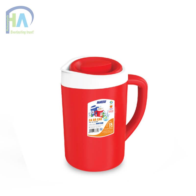 Bình giữ nhiệt 1.5 L màu đỏ bền đẹp