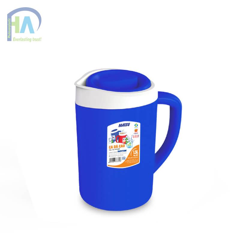 Bình giữ nhiệt 1.5 L màu xanh dương chất lượng cao