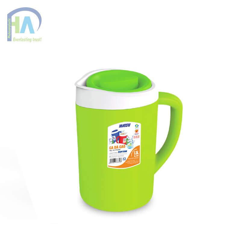 Bình giữ nhiệt 1.5 L màu xanh lá cây tiện dụng