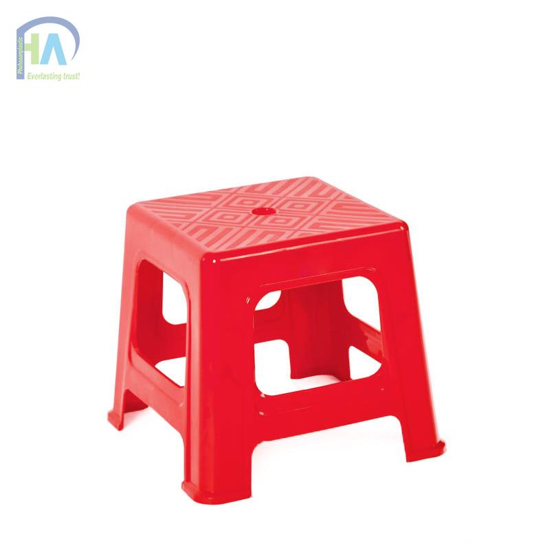 Ghế lùn sọc kiểu dáng tinh tế màu đỏ