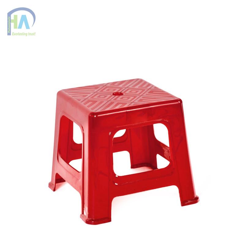 Ghế lùn sọc kiểu dáng tinh tế màu đỏ son