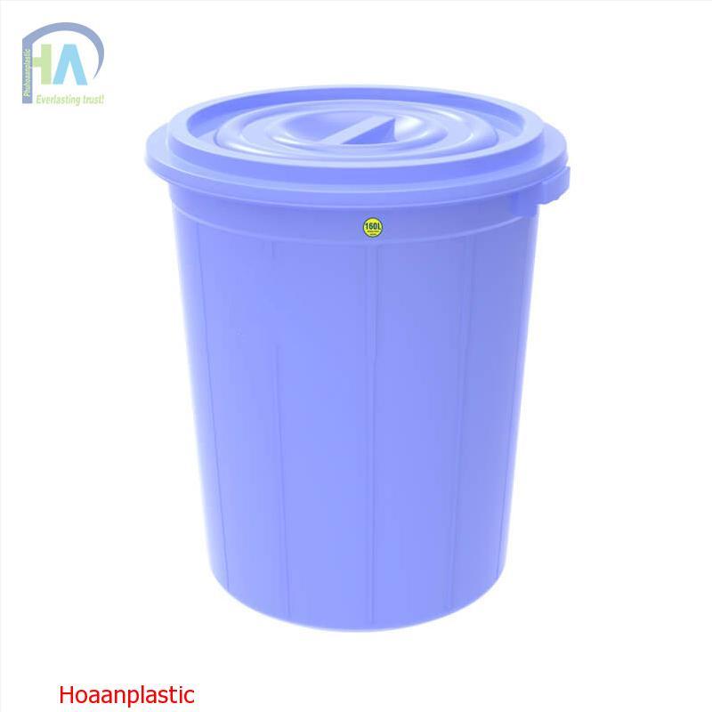 Thùng nhựa tròn 160 lít có nắp