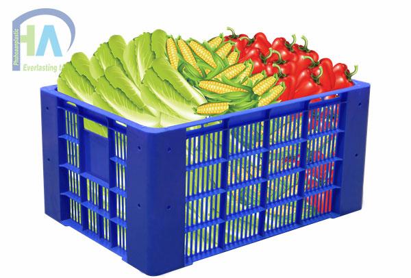 Sóng nhựa hở HS030 chuyên đựng rau quả
