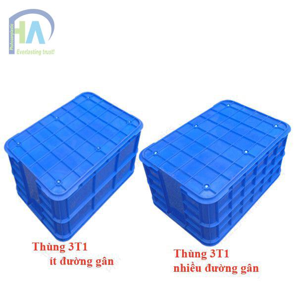 Thùng nhựa đặc (sóng nhựa bít) 3T1 cao cấp