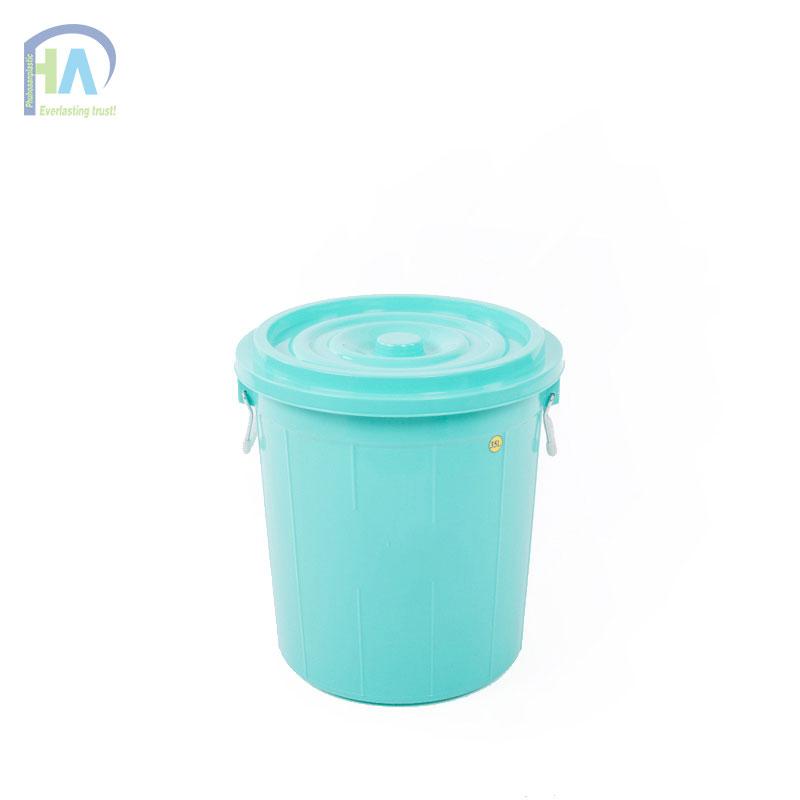 Thùng nhựa tròn 35 lít có nắp siêu tiện dụng