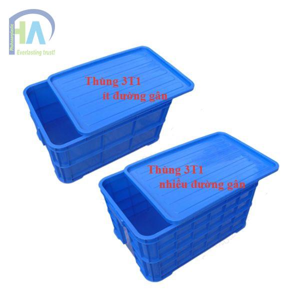 Thùng nhựa đặc (sóng nhựa bít) 3T1 chất lượng vượt trội