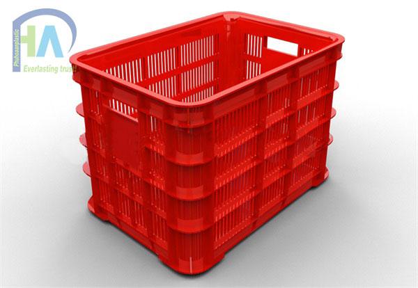 Thùng nhựa rỗng (sóng nhựa hở) HS012 cao cấp, giá rẻ