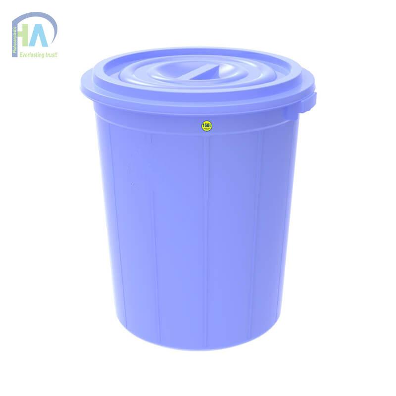 Thùng nhựa tròn 160 lít có nắp cao cấp, giá cực hấp dẫn