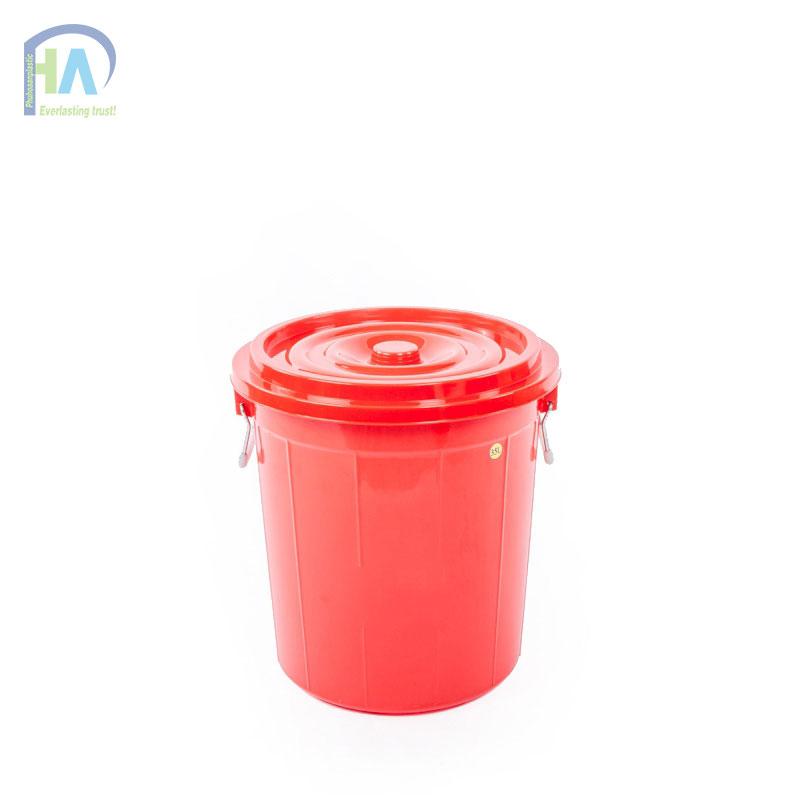 Thùng nhựa tròn 35 lít có nắp bền bỉ, cứng cáp